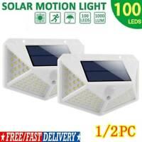 100LED Four-sided Solar Power Motion Sensor Wall Light Outdoor Garden Lamp US