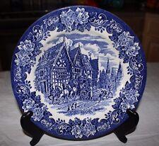 """Vtg English Ironstone Tableware Blue Dickens  9.5"""" Dinner Plate"""