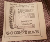 Goodyear Tyres & Tubes - 1921 Advertisement