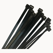 Cable Ties Black UV 4.8mm x 300mm Pack 100