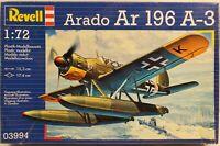 Revell 1/72 Aircraft Model Kit Arado Ar 196 A3 German WW2 Float Seaplane 03994