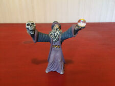 Spoontiques Resin Wizard Holding Skull & Crystal Orb