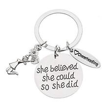 Cheer Keychain- Girls Cheerleading She Believed She Could So She Did Key Chain