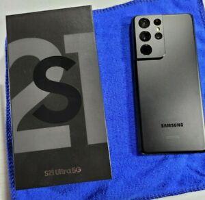 Samsung Galaxy S21 Ultra 5G SM-G998U 128GB Black T-Mobile Locked A+ Cond +BONUS