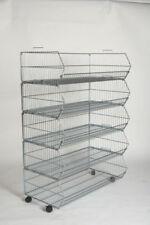 5 Shop Retail Display Base Baskets - 1000 x 540mm