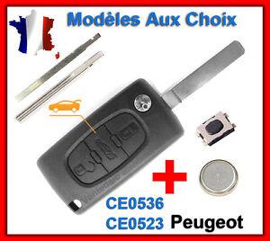 Schale Schlüssel Für Peugeot 107 207 307 308 Sw 407 607 807 3008 5008 Partner
