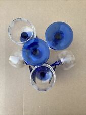 VERRE A VIN BLANC ALSACE pied bleu motif vigne raisin (lot de 6) ARC  LUMINARC