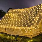Solar Powered Net Mesh Led String Fairy Lights 100-204led Outdoor Garden Party