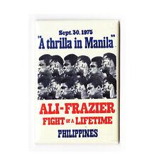 MUHAMMAD ALI vs FRAZIER / THRILLA IN MANILA - VINTAGE BOXING POSTER MAGNET