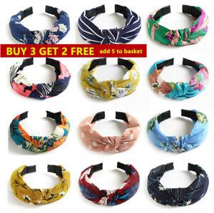 Women Hairband Twist Bow Knot Cross Headband Girl Hair Band Lady Headwear
