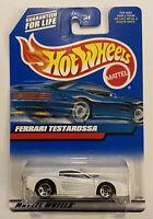 1998 Hotwheels Ferrari Testarossa F512m 512m 512 White! Very Rare! Mint! MOC!