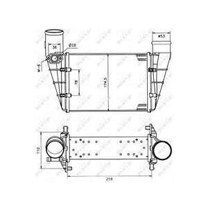 Fits Audi A4 B5 1.8 T Genuine NRF Intercooler