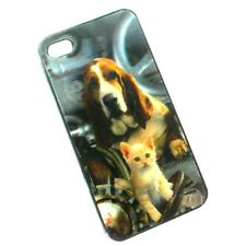 3D HOLOGRAM CASE FOR iPHONE 4S 4 PUPPY & CAT HARD COVER