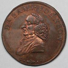 1796 Dr. Samuel Johnson Litchfield Conder Token