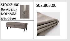 IKEA STOCKSUND Bank Bezug Nolhaga grau-beige NEU+OVP! 50280300