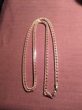 "filled chain 24"" 6mm rose gold"