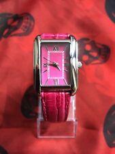 Orologio da polso donna TCM-rosa/pink/nuovo-pelle vera-batteria nuova! @@K
