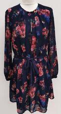 LADIES MANGO FLORAL CHIFFON STYLE DRESS. SIZE XS. (UK 6). IMMACULATE