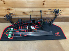 PSE Drive NXT 70lb Compound Bow RH Black Compound Bow Package W/ Case and Arrows