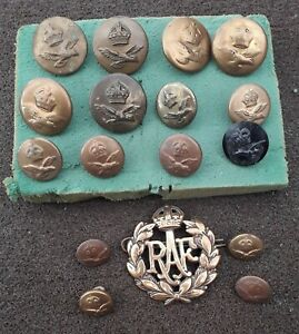 RAF CAP BADGE AND BUTTONS