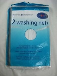 Brand New Pack of 2 White Washing Machine Net and Fine Mesh With Assorted Size