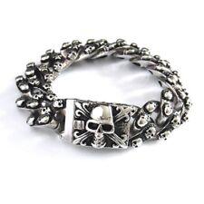 Totenkopf Bikerarmband Panzerarmband Edelstahl Männerschmuck skull bracelet