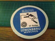 sottobicchiere beer mats birra bierdeckel 20 Olympiade munchen 1972 17 reiten