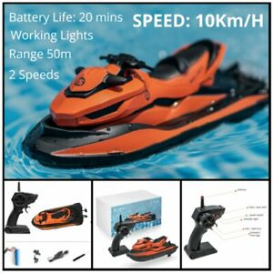 Remote Control Motor Boat RC Racing Speed Pond Fun Boat Gift Toys For Kids UK