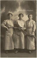 Besenbinderinnen, Original-Photo von etwa 1910