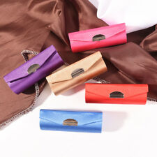Solid ColorFashion Lipstick Case Holder With Mirror Inside & Snap-On ClosureWHHL