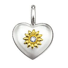 Genuine Thomas Sabo Sweet Diamonds Silver & Gold heart sunflower Pendant RRP$249