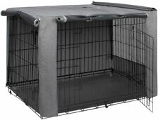 HiCaptain Folding Metal Dog Crate Cover for 48 Inch Wire Pet Cage (Grey)