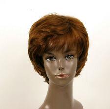 perruque AFRO femme 100% cheveux naturel châtain clair cuivré ref LAET 06/30