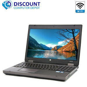 "HP ProBook 6560b 15.6""  Laptop PC Intel i3 4GB RAM 250GB Windows 10 DVD WiFi"
