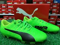 Puma EvoPOWER Vigor 4 FG Jr Soccer Cleats Green / Yellow Size 4.5c New In Box