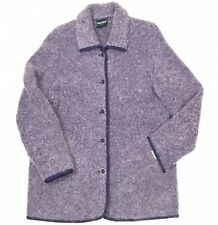Geiger Women's 38 Light Purple Fuzzy Mohair And Wool Cardigan Jacket
