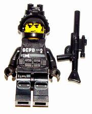 LEGO NEW SWAT TEAM MINIFIGURE POLICE COP FIGURE YELLOW HEAD BEARD GUN SECRET OPS