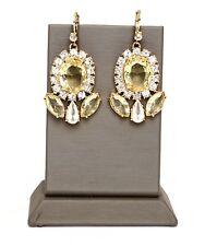 Kate Spade Gold Crystal Lever back Dangle Earrings 5942