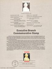 #8911 25c Executive Branch Stamp #2414 USPS Souvenir Page