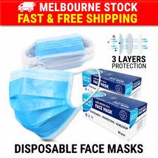 100PCS Face Mask 3 Layer Protective Mouth Masks Anti Bacterial Filter Respirator