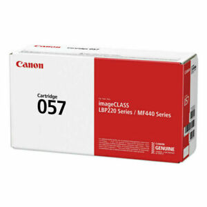 Genuine Canon 3009C001 057 Toner 3100 Page Yield Black Factory Sealed New