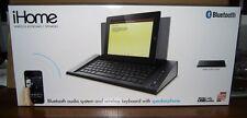 iHome Executive Space-Saver Station Bluetooth Keyboard Speaker System (Black)
