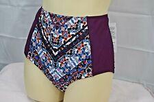 ATHLETA womens purple print Mavra High Waist Bottom swim size XS NWT