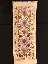 "Uzbek Handmade Suzani, New, 34.5x12.5"" (88x32cm), Shipped from USA"