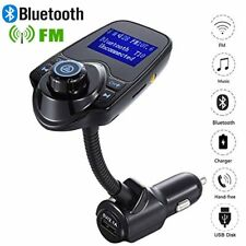 WIOR Bluetooth Hands-free Car Kit FM Transmitter MP3 Player 2-Port USB Charger