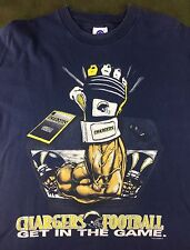 "Vintage Mens XL 1995 San Diego Chargers NFL Football ""Get In The Game"" T-Shirt"
