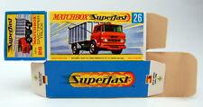 """Matchbox Superfast 26A GMC Tipper Truck leere originale """"H"""" Box"""