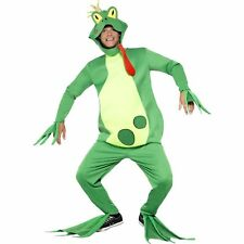 Frog Prince Frogger Fairytale Jumpsuit Toad Adults Mens Fancy Dress Costume