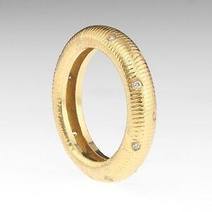 18k Yellow Gold Diamond Eternity Band Ring Designer/18k Gold Ring Paul Morelli