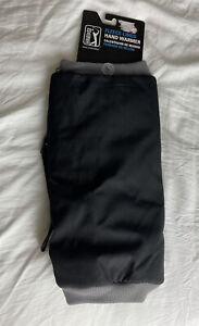 NEW! PGA TOUR Golf Fleece Lined Hand Warmer BLACK adjustable waist belt